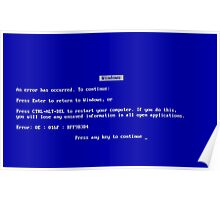 Blue Screen of Death Poster