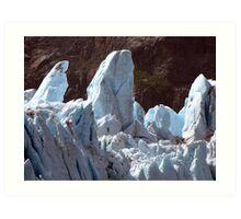 Glacial upheavals Art Print