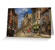 City - Providence RI - Living in the city 1906 Greeting Card