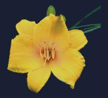 Yellow Daylily Flower Art Kids Tee