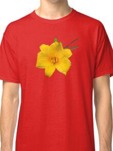 Yellow Daylily Flower Art Classic T-Shirt