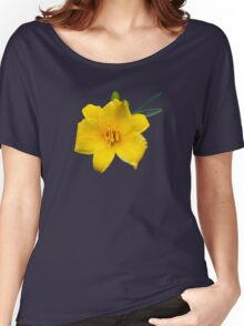 Yellow Daylily Flower Women's Relaxed Fit T-Shirt