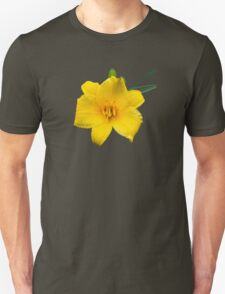 Yellow Daylily Flower Art T-Shirt