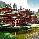 Peace and Serenity, Byodo In Temple, Hawaii by David Davies
