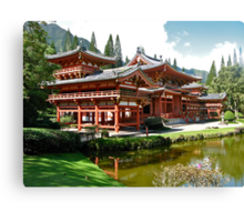 Peace and Serenity, Byodo In Temple, Hawaii Canvas Print