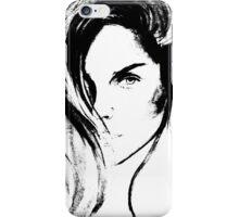 the bw girl  iPhone Case/Skin