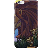 King Lion and Cubs iPhone Case/Skin