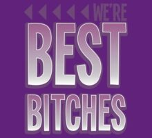 We're BEST BITCHES (BFF best friends forever!) purple  by jazzydevil