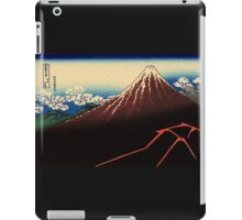 'Lightning Below the Summit' by Katsushika Hokusai (Reproduction) iPad Case/Skin