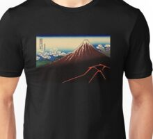 'Lightning Below the Summit' by Katsushika Hokusai (Reproduction) Unisex T-Shirt