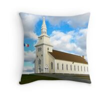 Église Sacré-Coeur, Saulnierville, Nova Scotia Throw Pillow