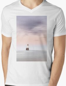 North Sea Lighthouse Mens V-Neck T-Shirt