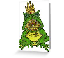 Covetous Toad Lord Greeting Card