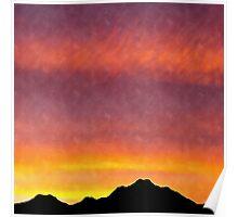 highland sunset Poster