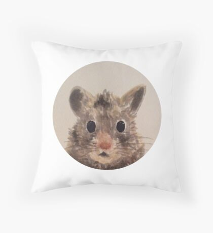 Watercolour hamster Throw Pillow
