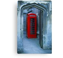 Lonely Phone Booth Canvas Print
