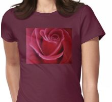 """Fine art. Rose """"Red PASSION"""". Oil painting. Nature. Flower. Womens Fitted T-Shirt"""
