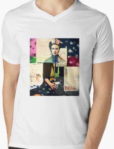 Frida Kahlo Mens V-Neck T-Shirt