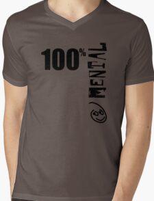 100% Mental Tee Mens V-Neck T-Shirt