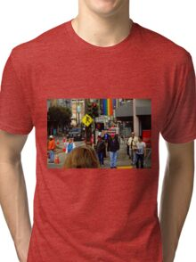 Red Light Castro District Tri-blend T-Shirt