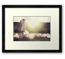 I Won't Just Blow Away... Framed Print