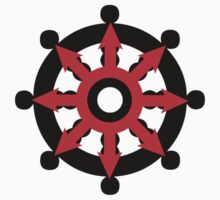 Chaos Dharma Wheel by buddhabadges