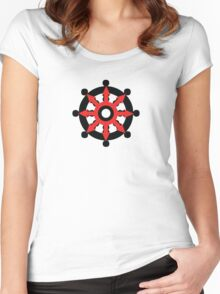 Chaos Dharma Wheel Women's Fitted Scoop T-Shirt