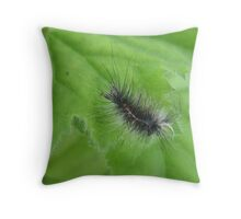 In need of a buzz cut Caterpillar Throw Pillow