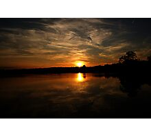Leicestershire Sunset Photographic Print
