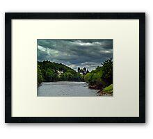 Cloudy Splender Over The River Ness,Scotland Framed Print