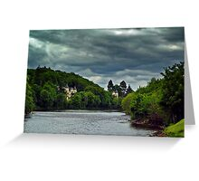 Cloudy Splender Over The River Ness,Scotland Greeting Card