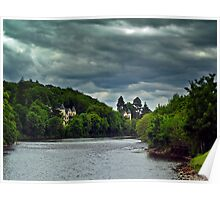 Cloudy Splender Over The River Ness,Scotland Poster