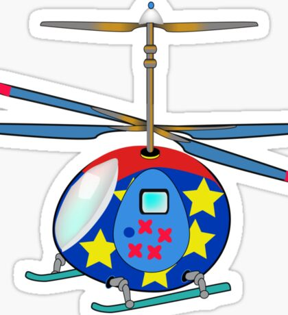 Mikie the Helicopter Sticker