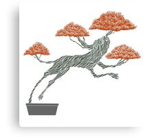 Bonsai Lion Escapes Canvas Print