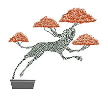 Bonsai Lion Escapes Photographic Print