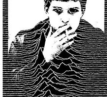 Ian Curtis+ Unknown Pleasures= perfection  by molley13