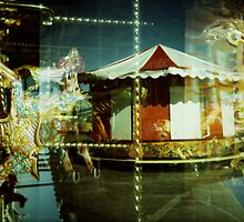 Carousel and Sea by Natalie Tyler