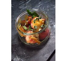 Summery fruit salad with mint and a sesame butterscotch - 2 Photographic Print