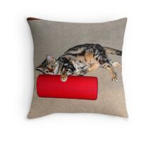 Ziggy and The Red Pillow! Throw Pillow