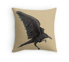 Crows Before Hoes Throw Pillow