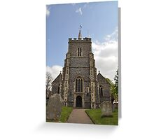 St Mary's Church, Essendon, Hertfordshire ~ April 2010 Greeting Card