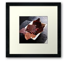 Peppery chocolate shards Framed Print
