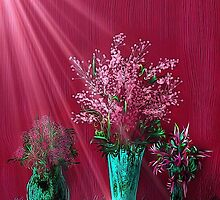 Pink and Red Floral Study by Penny Ward Marcus