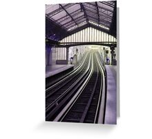 Subway in Paris Greeting Card
