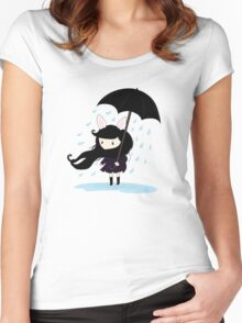 why does it always rain on me? Women's Fitted Scoop T-Shirt