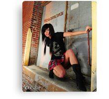Punk Rock Princess Canvas Print