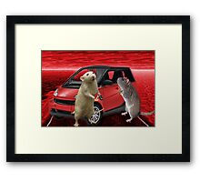 ¸¸.*¨MOUSE PROPOSAL~I GAVE U A ROSE NOW I ASK 4 YOUR HEART WILL U MARRY ME¸¸.*¨ Framed Print