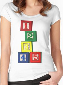 Toy Blocks Women's Fitted Scoop T-Shirt
