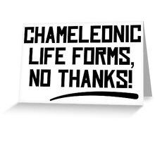Chameleonic life forms - Light Greeting Card