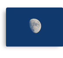 Three Quarters Moon Canvas Print
